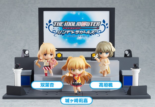 Nendoroid Petite IDOLM@STER Cinderella Girls - Anzu, Kaede and Rika + Live Stage Set